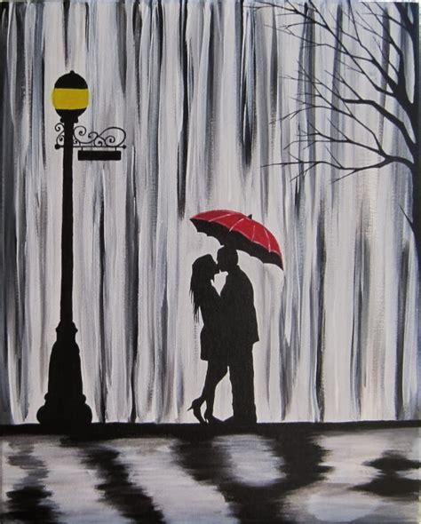 Night Sky Wall Mural couple original en pluie peinture couple s embrassant
