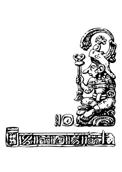 imagenes figuras mayas dibujo para colorear maya img 11345