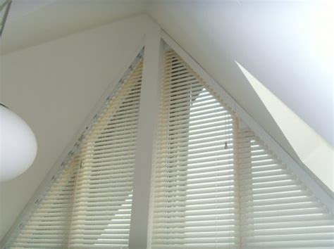 triangle window coverings the cambridge triangle shaped blinds avanti blinds and