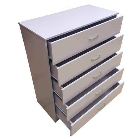White Bedroom Chest Of Drawers Ebay Chest Of Drawers 5 White Anti Bowing Drawer Support