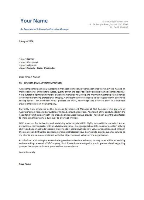 cover letter template australia business letter format