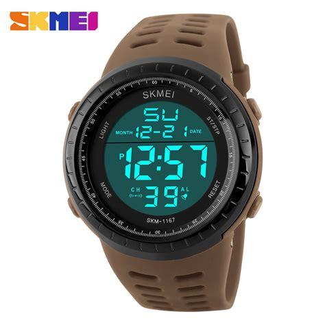 skmei jam tangan digital pria 1167 coffee jakartanotebook