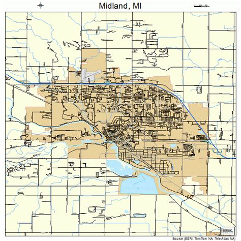 midland michigan map 2653780