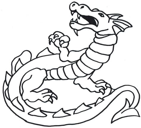 dragon outline template clipart best