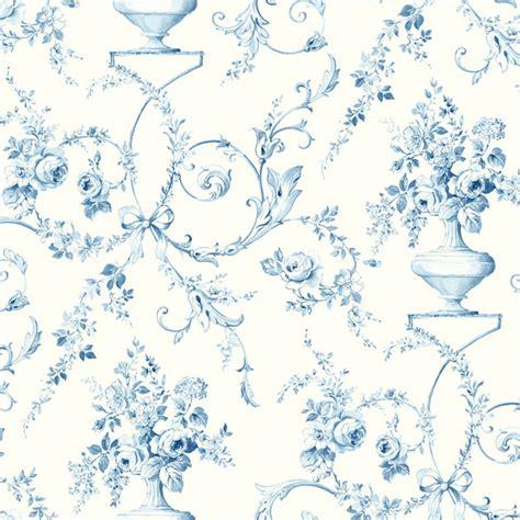 Large Flower Wall Murals 522 31202 light blue floral urn fairwinds studio wallpaper