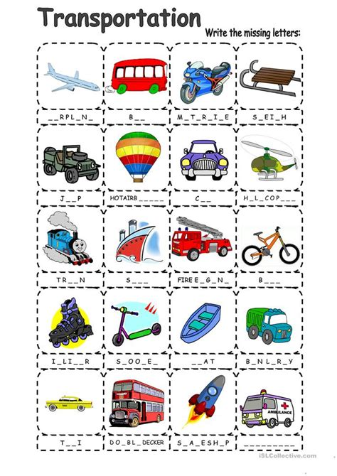 Car Types With 8 Letters by 24 Free Esl Vehicles Worksheets