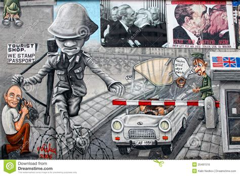 Paint By Number Wall Mural berlin wall with checkpoint charlie editorial photo