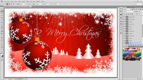 christmas themes photoshop how to create a christmas background photoshop tutorial
