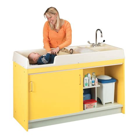 changing table with sink tot mate infant changing table w sink right