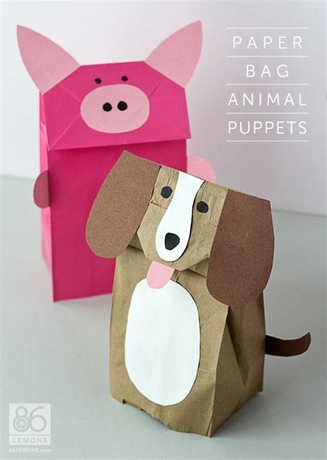 paper bag puppet craft the 706 best images about diy puppets playtivities on