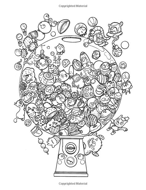 amazon com doodle chaos zifflin s coloring book volume 3 9781523834778 coloriage