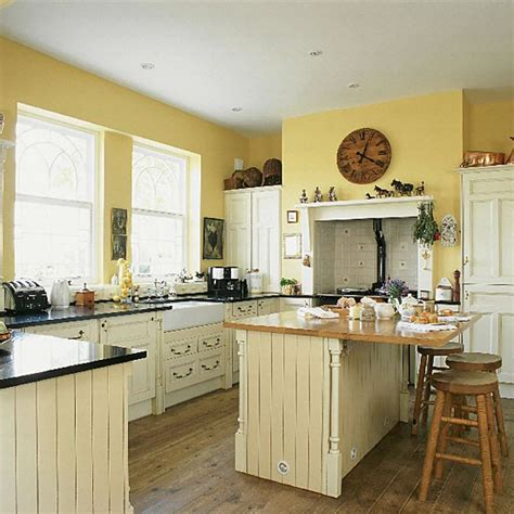 yellow country kitchen kitchen design decorating ideas