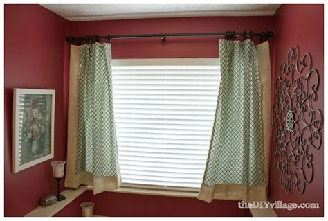 diy bathroom curtains burlap and trellis master bath curtains the diy village