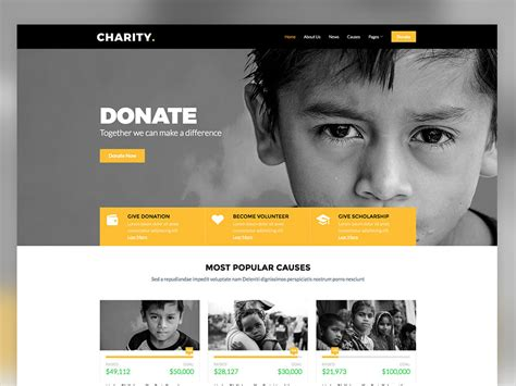 bootstrap templates for ngo charity free non profit responsive bootstrap website