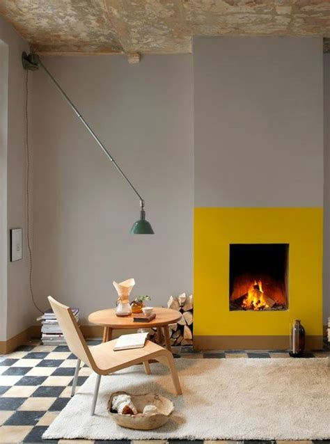 yellow fireplace fireplace color ideas turn a dark dreary fireplace into