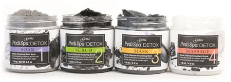 Gena Detox Charcoal Pedicure by Detox System Technique Nails Magazine