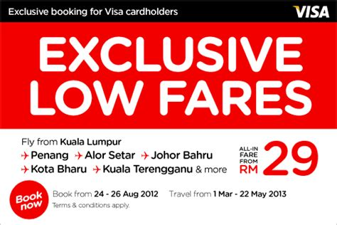Visa Gift Card Promotions - i love freebies malaysia promotions gt airasia visa cards exclusive low fares