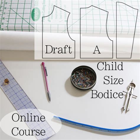 pattern maker online course how to draft childrens patterns child s bodice block