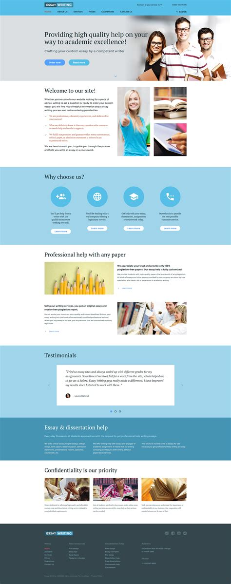Essay Writer Website Template Best Website Templates For Writers