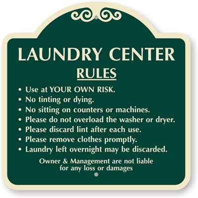 laundry room etiquette signs laundry room signs