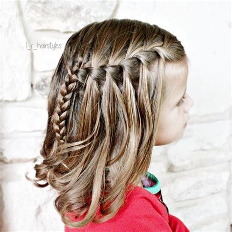 braided half up waterfall kids hair ideas pinterest 25 best ideas about waterfall braid curls on pinterest