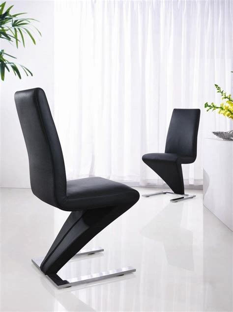 Furniture Serroni Trendy Chrome Dining Chair Modern Black Black And White Leather Dining Chairs