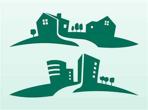 Buildings Silhouettes Vector Art & Graphics   freevector.com