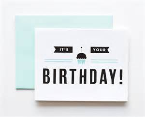 its your birthday happy birthday card modern by thepapercub