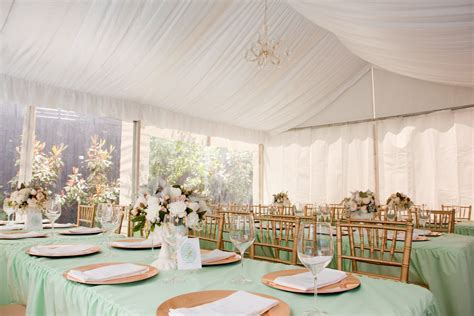 elegant mint green gold reception   The Sweetest Occasion