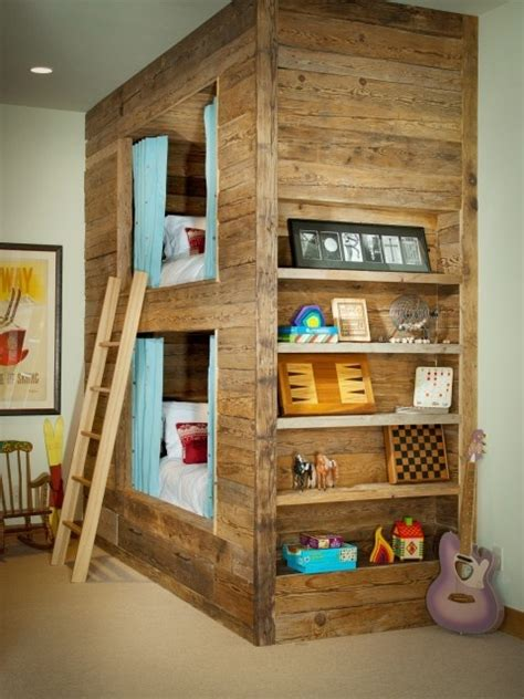 Very Cool Bunk Beds In Child S Room Kids Rooms Pinterest Cool Bedrooms With Bunk Beds