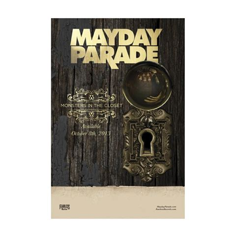 Monsters In The Closet Mayday Parade by Monsters In The Closet 11x17 Promo Poster Fear