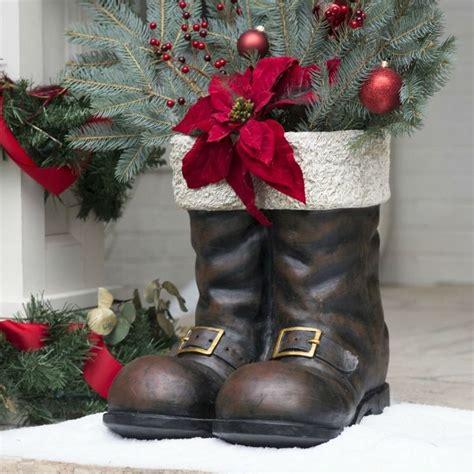 Santa Boots Planter by Details About Decoration Decor Santa