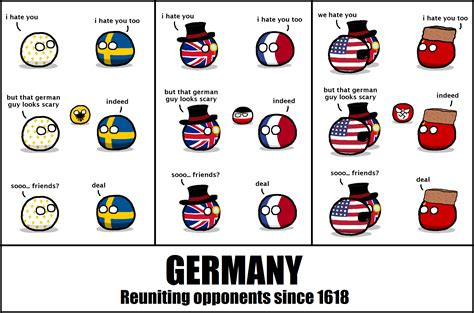 Germany Meme - germany reuniting opponents since 1618 polandball comics