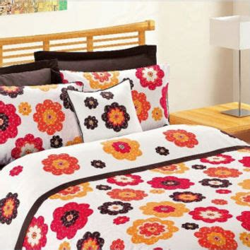 coral and brown bedding custom queen size coral fire red pumpkin from myveralinen
