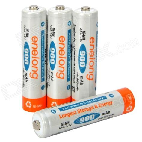 Battery Rechargeable Aaa Ni Mh Batteries 900mah Enelong enelong rechargeable 900mah ni mh aaa batteries 4pcs free shipping dealextreme