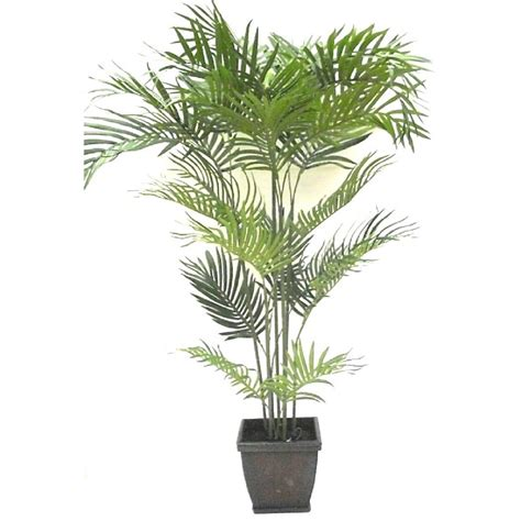 shop garden treasures 48 quot artificial areca parlor palm