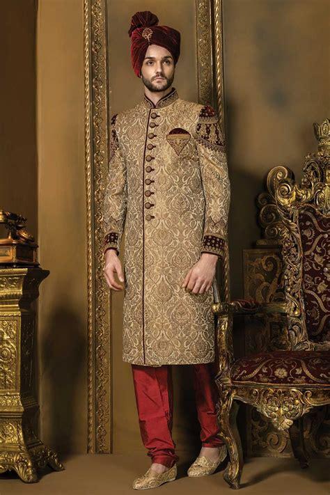 Matt #gold & #maroon khinkwab & #velvet bandh gala dashing