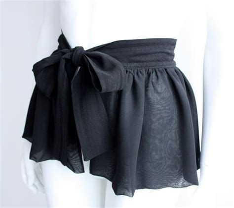 Rok Peplum Mini Polospeplum Mini Skirt black peplum belt black peplum skirt chiffon peplum mini ruffle belt tie belt wrap belt