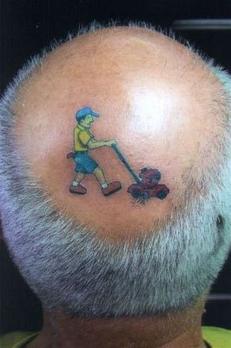 tattooed hair on bald head bad tattoos 14 more of the worst in team jimmy joe
