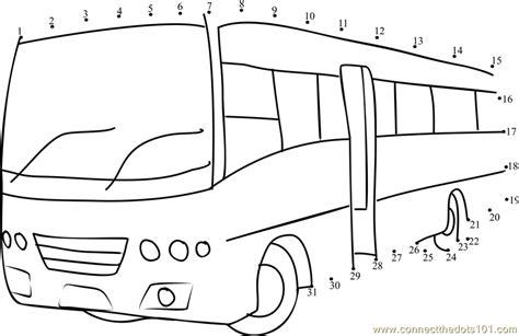 printable school bus dot to dot tata marcopolo school bus dot to dot printable worksheet
