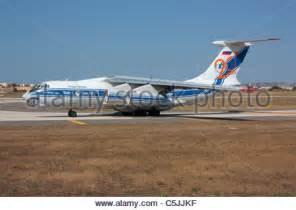 russian ilyushin il  cargo plane stock photo  alamy