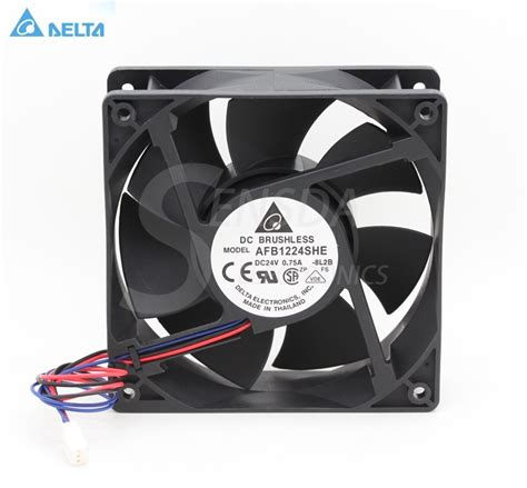 delta afb1224she 1238 12cm 120mm dc 24v 0 75a server inverter axial blower cooling fan in fans