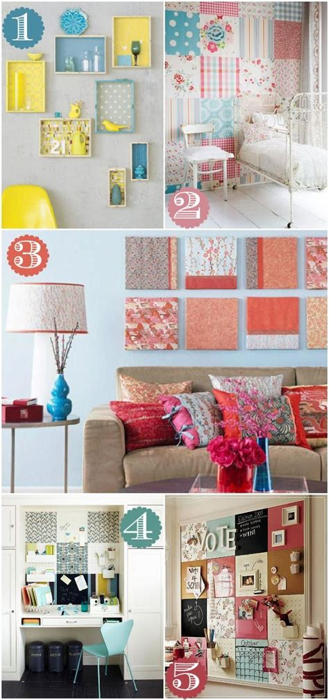 ways to decorate home 42 ways to decorate with scrapbook paper fabric would