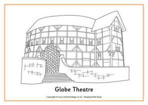 The Globe Theatre Outline globe theatre colouring page