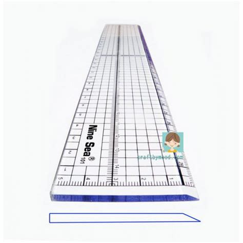 Resleting Ykk 2 Sisi Metal Untuk Vislon ruler patchwork quilting 2in1 nine sea 5 30cm craftbymood