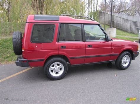 land rover discovery exterior rutland red 1998 land rover discovery le exterior photo