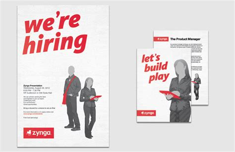 Poster Design Job Description | zynga university relations maravilla