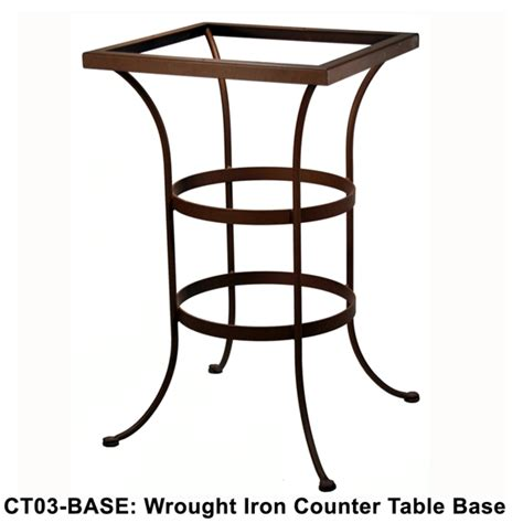 counter height table base ow standard wrought iron counter height table base