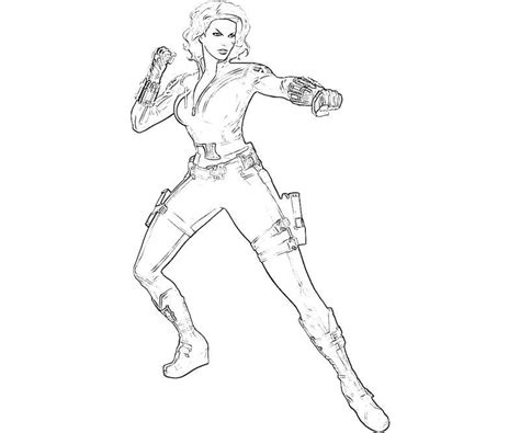 avengers black widow coloring pages