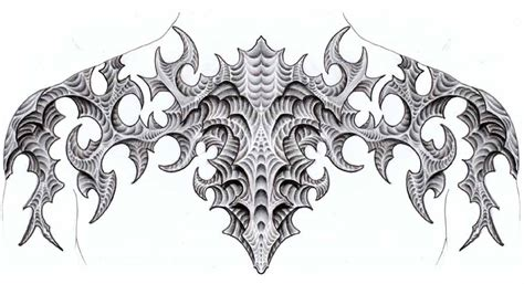 biomech tribal tattoo biomech tribal concept by jabardstown on deviantart